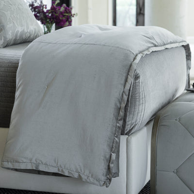 Aria Light Grey Matte Velvet Personal Throw [Luxury comforter Sets] [by Latest Bedding]