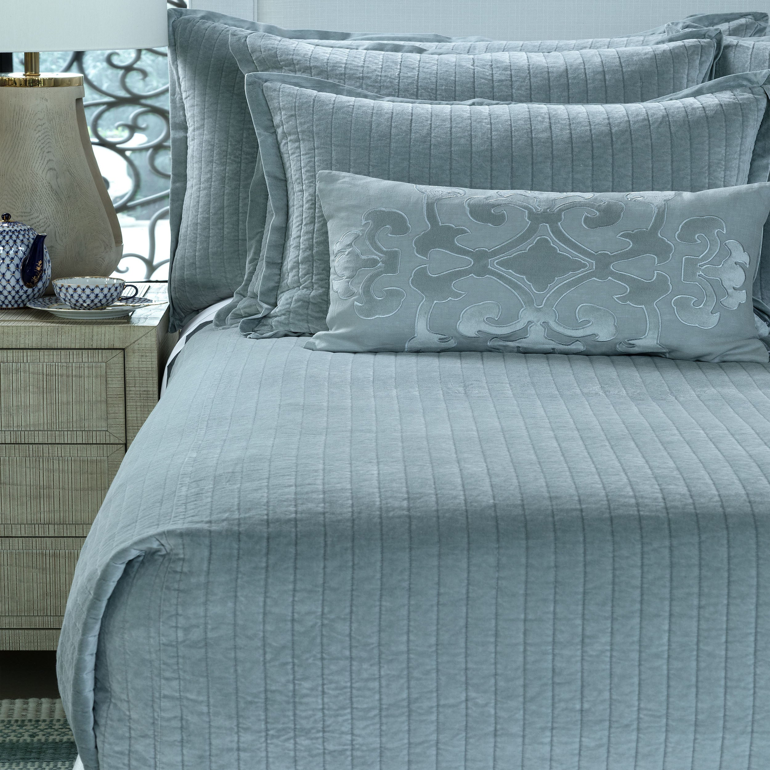 Aria Sky Coverlet - Lili Alessandra [Luxury comforter Sets] [by Latest Bedding]
