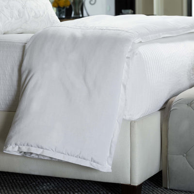 Aria White Matte Velvet Personal Throw [Luxury comforter Sets] [by Latest Bedding]