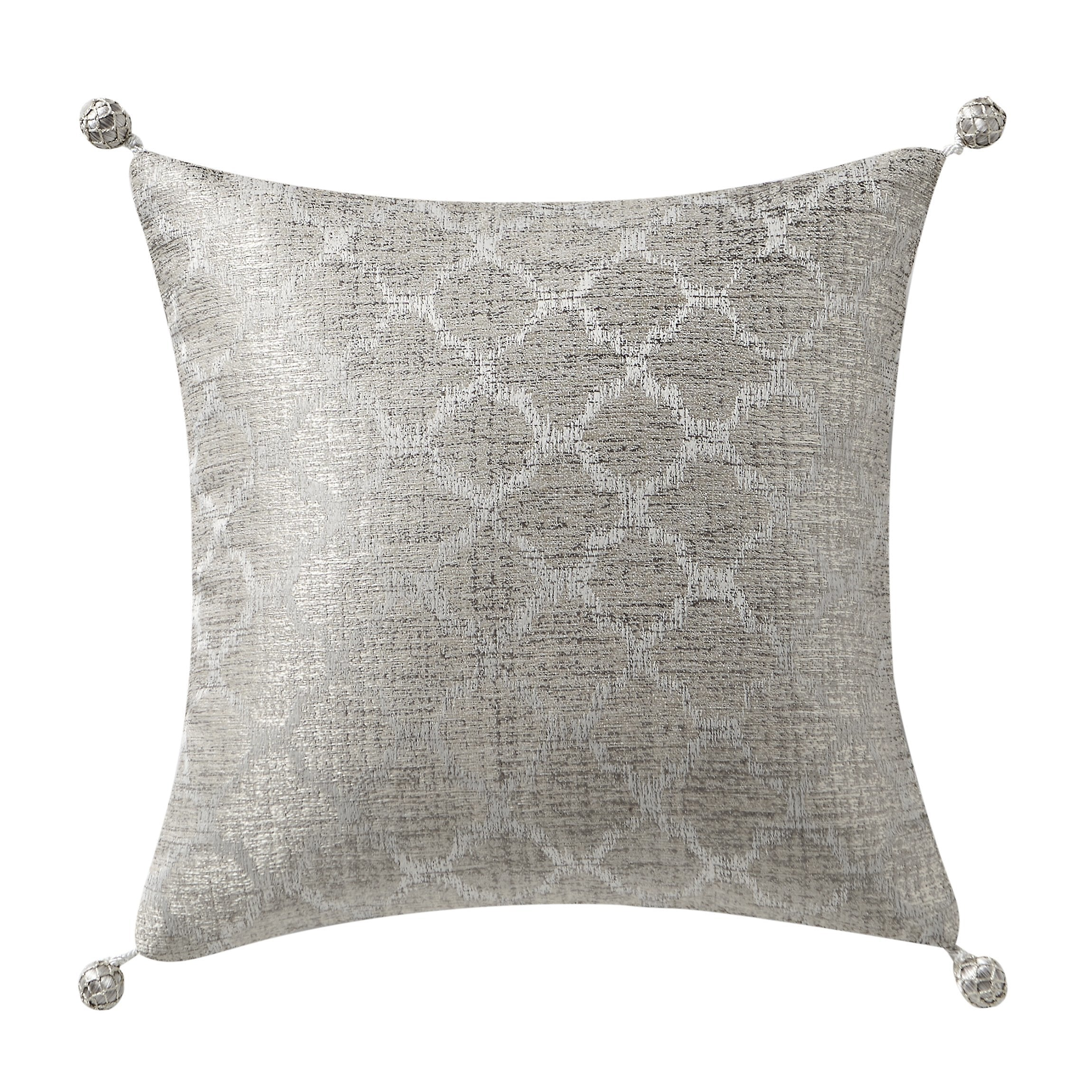 "Arianna Champagne Decorative Throw Pillow 14"" x 14"" [Luxury comforter Sets] [by Latest Bedding]"