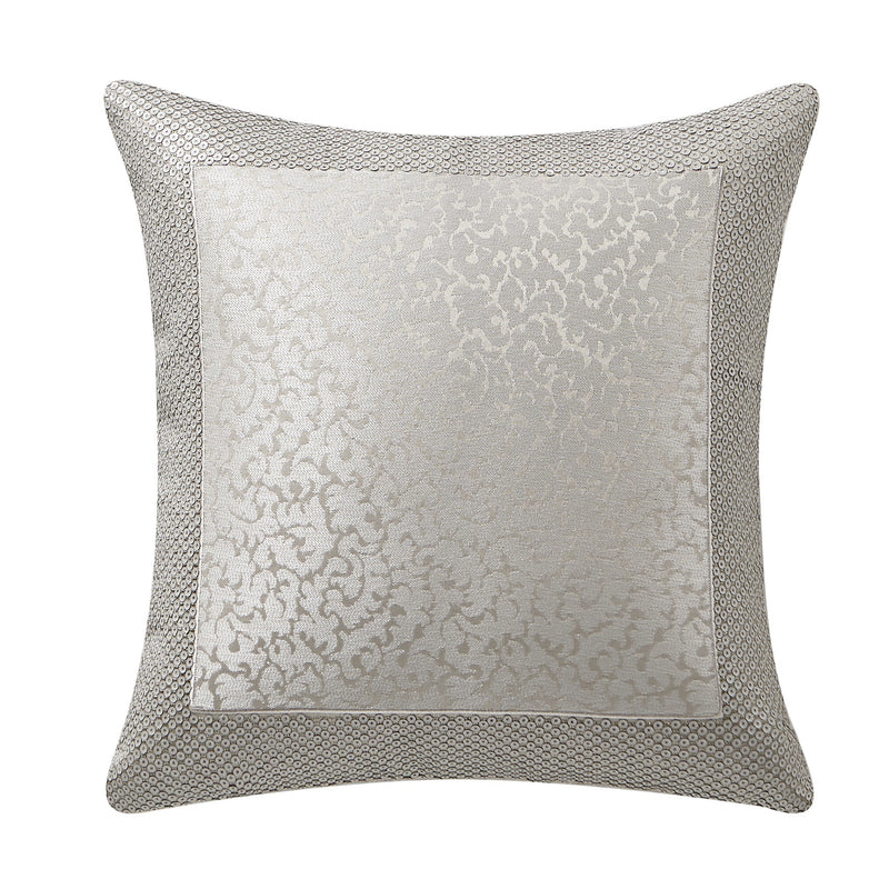 "Arianna Champagne Decorative Throw Pillow 16"" x 16"" [Luxury comforter Sets] [by Latest Bedding]"