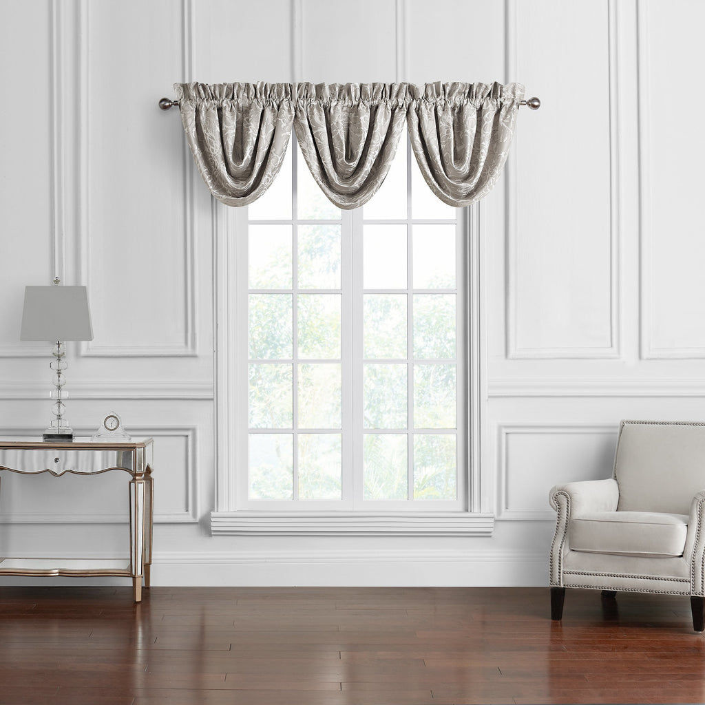 Arianna Champagne Window Valance Set [Luxury comforter Sets] [by Latest Bedding]