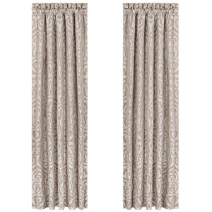 Astoria Sand Window Panel Pair [Luxury comforter Sets] [by Latest Bedding]
