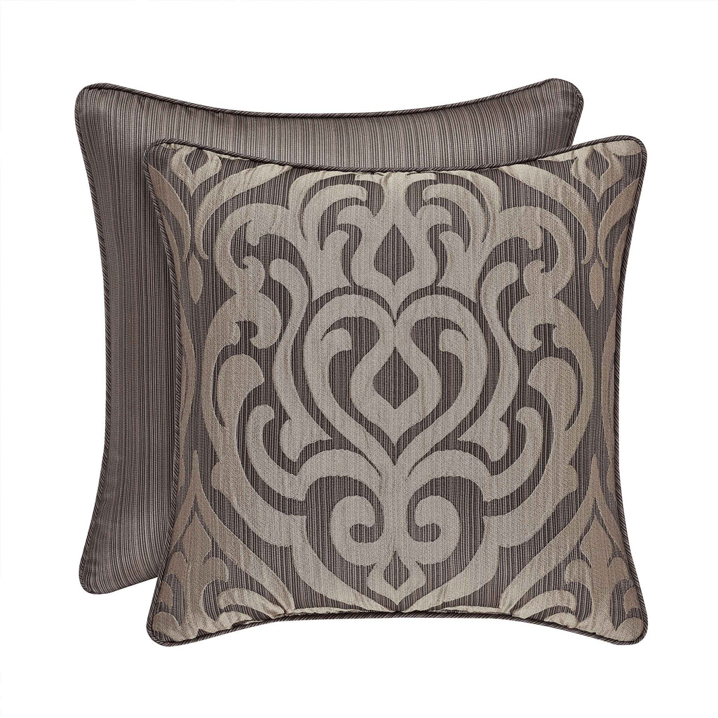 "Astoria MINK Square Decorative Throw Pillow 18"" x 18"" [Luxury comforter Sets] [by Latest Bedding]"