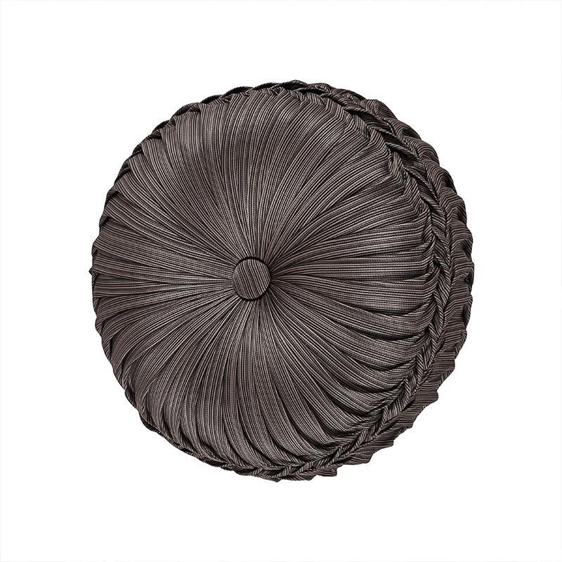 Astoria MINK Tufted Round Decorative Throw Pillow [Luxury comforter Sets] [by Latest Bedding]