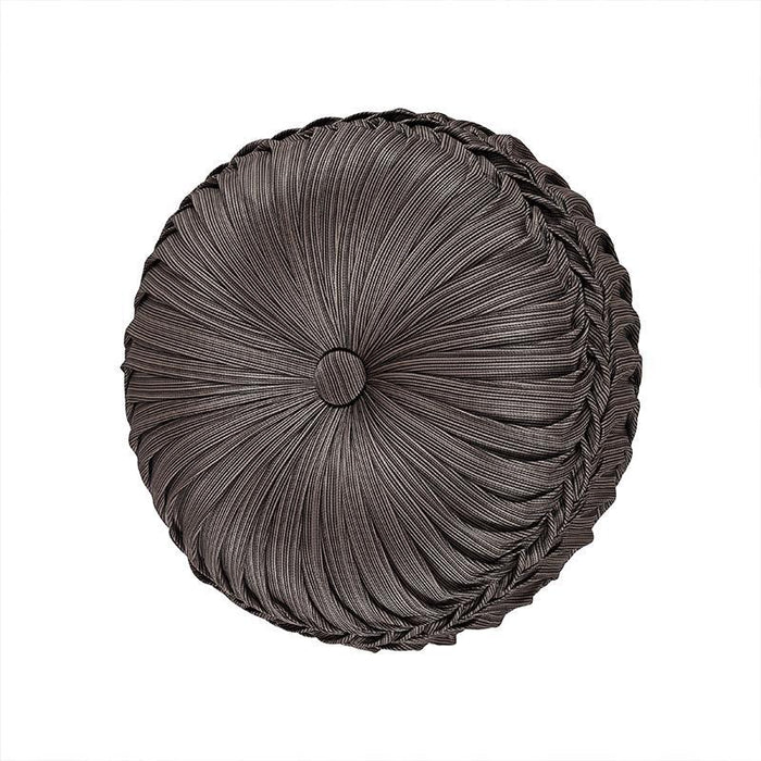 Astoria MINK Tufted Round Decorative Throw Pillow
