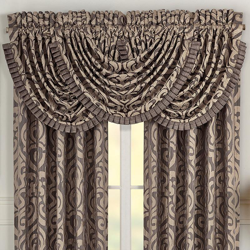 Astoria MINK Waterfall Window Valance [Luxury comforter Sets] [by Latest Bedding]