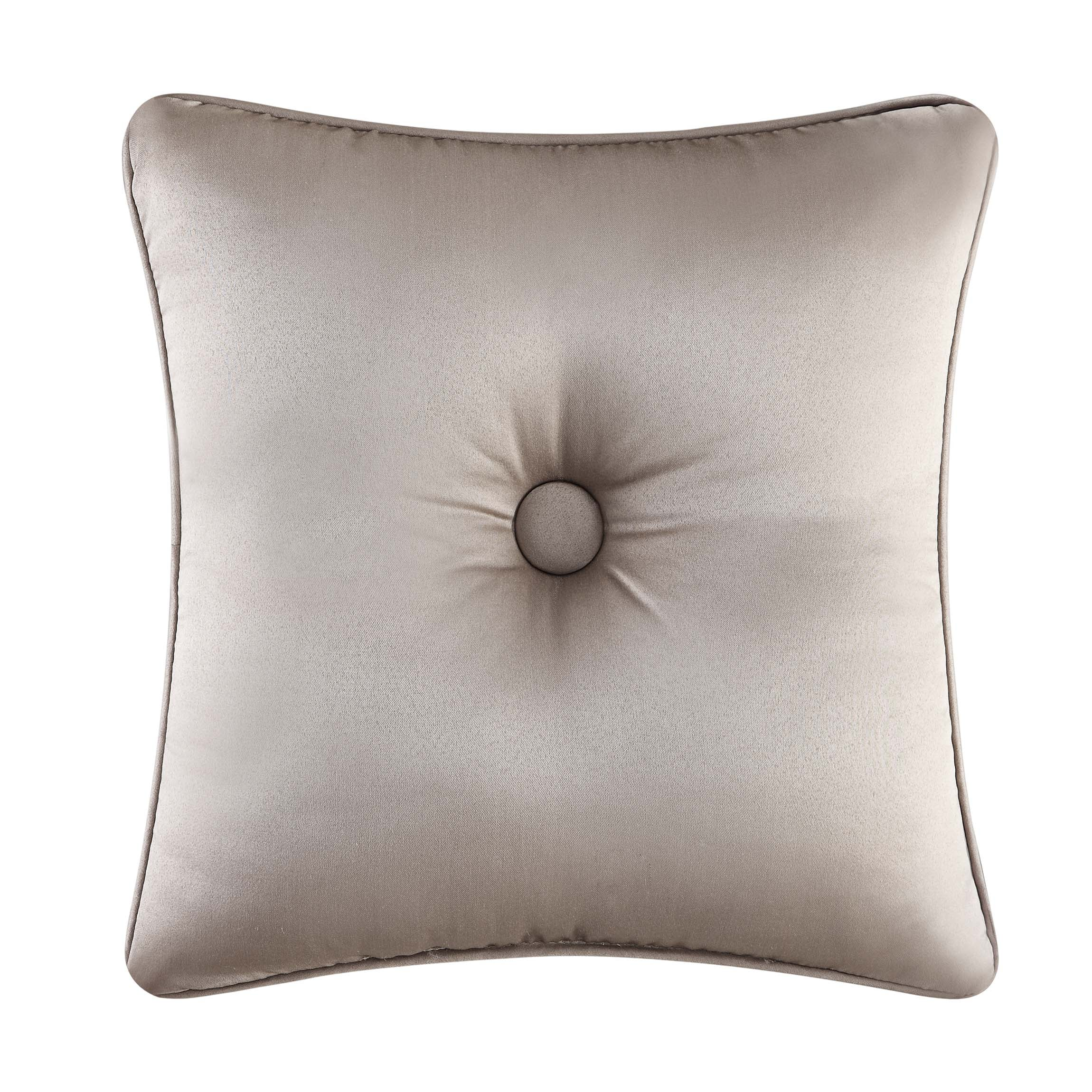"Astoria Sand Square Decorative Throw Pillow 16"" x 16""- Throw Pillows By J. Queen New York"