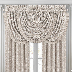 Astoria Sand Waterfall Window Valance [Luxury comforter Sets] [by Latest Bedding]