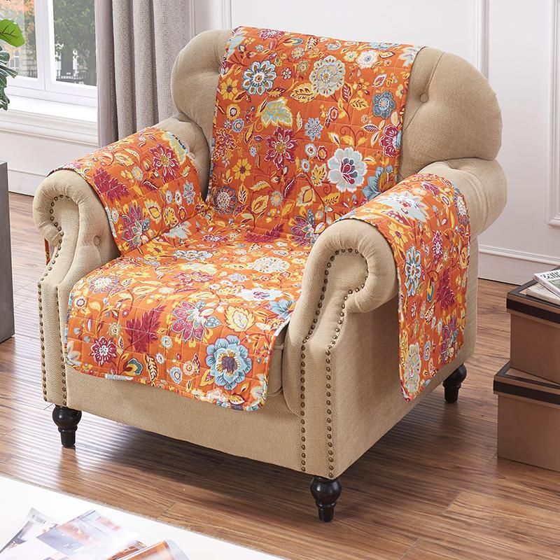 Astoria Spice Furniture Protector Arm Chair [Luxury comforter Sets] [by Latest Bedding]