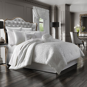 Astoria White 4-Piece Comforter Set [Luxury comforter Sets] [by Latest Bedding]