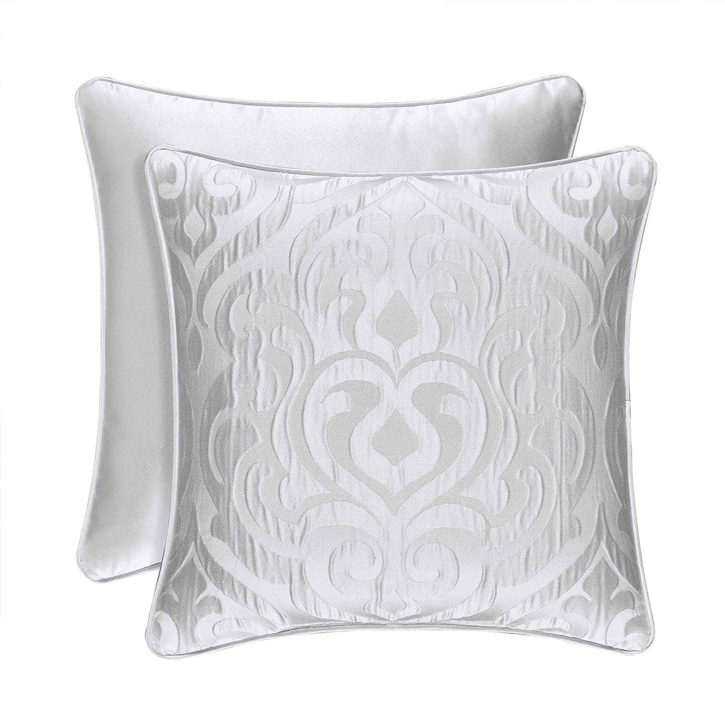 "Astoria White Square Decorative Throw Pillow 18"" x 18"" [Luxury comforter Sets] [by Latest Bedding]"