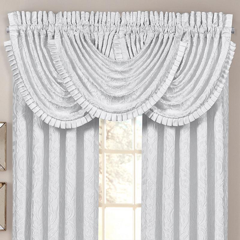 Astoria White Waterfall Window Valance [Luxury comforter Sets] [by Latest Bedding]
