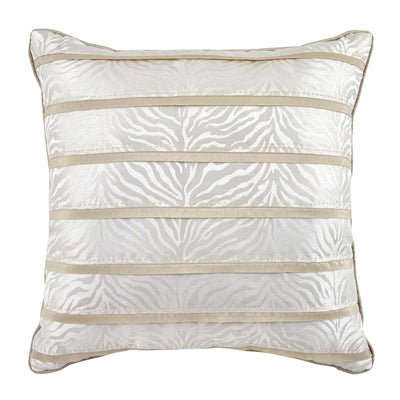 "Astrid Ivory Fashion Decorative Throw Pillow 18"" x 18"" Throw Pillows By Croscill Home LLC"