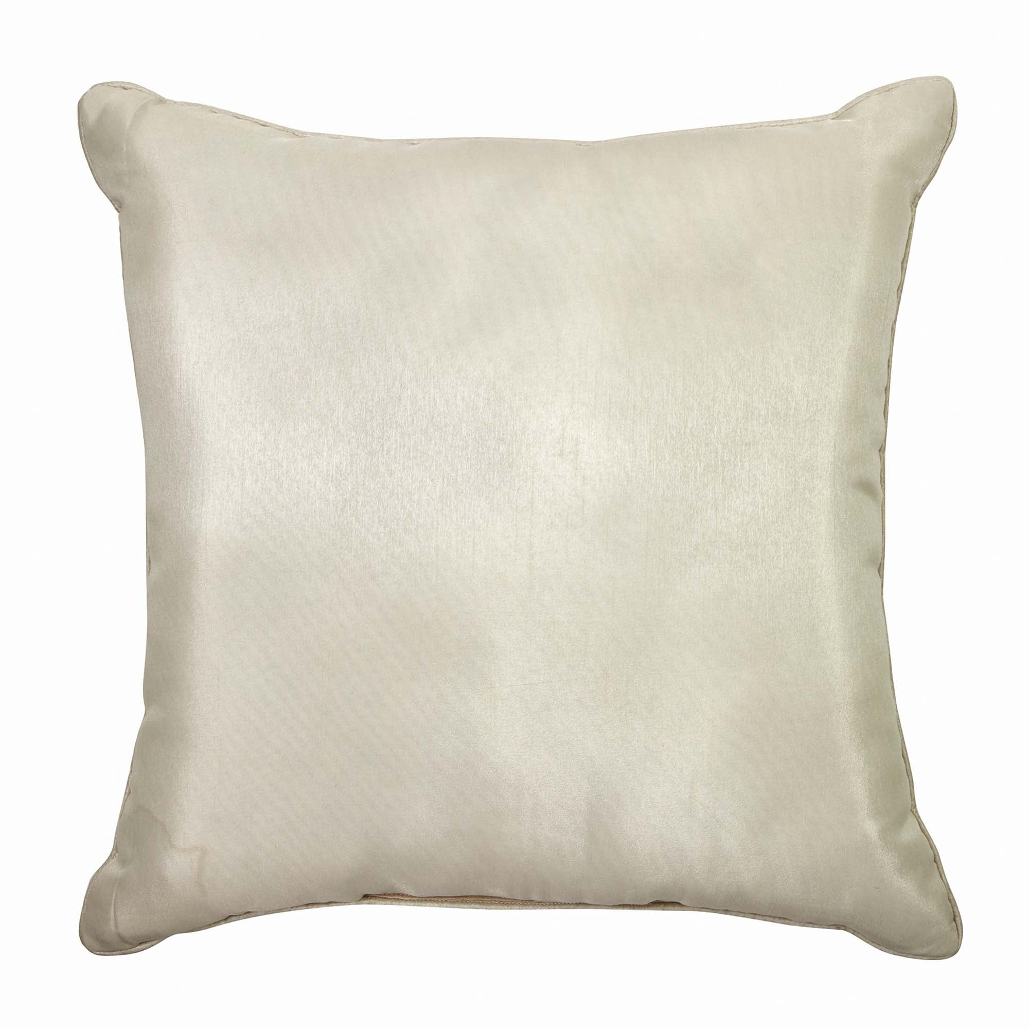 "Astrid Ivory Square Decorative Throw Pillow 20"" x 20"" [Luxury comforter Sets] [by Latest Bedding]"