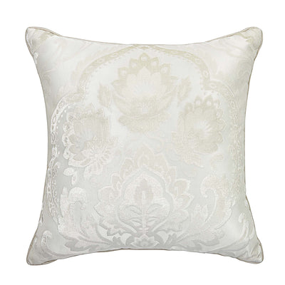 "Astrid Ivory Square Decorative Throw Pillow 20"" x 20"" Throw Pillows By Croscill Home LLC"
