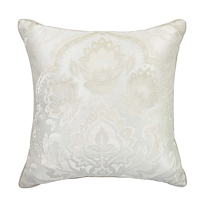 "Astrid Ivory Square Decorative Throw Pillow 20"" x 20"""