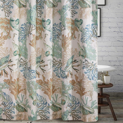 Atlantis Jade Bath Shower Curtain [Luxury comforter Sets] [by Latest Bedding]