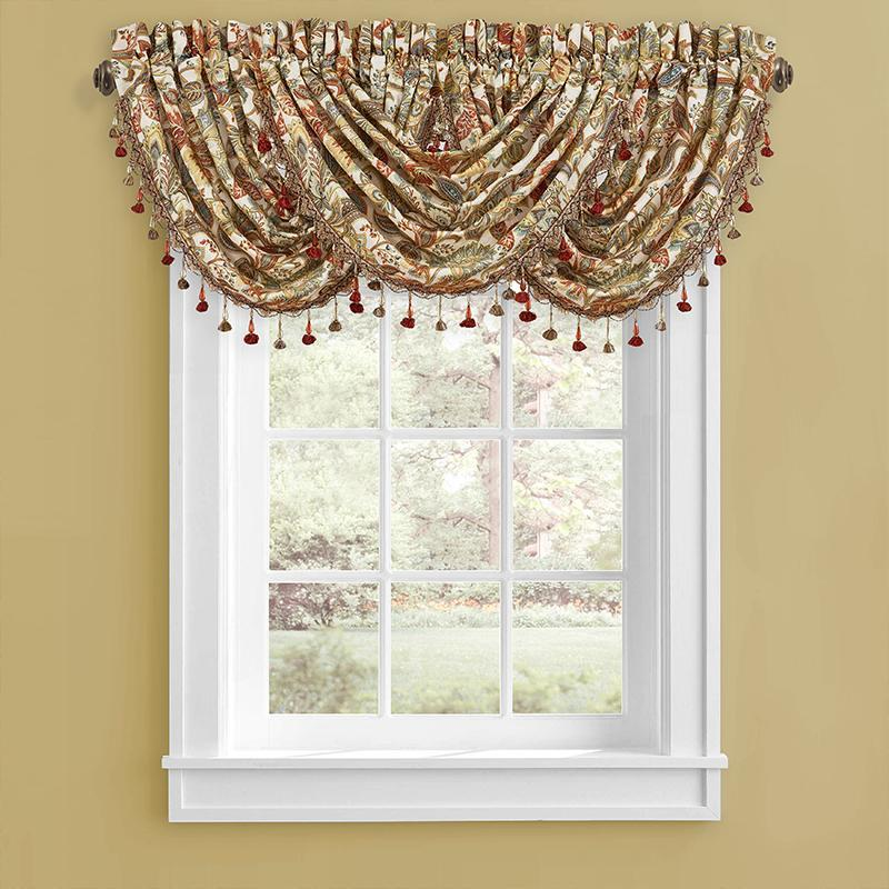 Window Valance August Multi Waterfall Window Valance [Luxury comforter Sets) ( by Latest Bedding)]