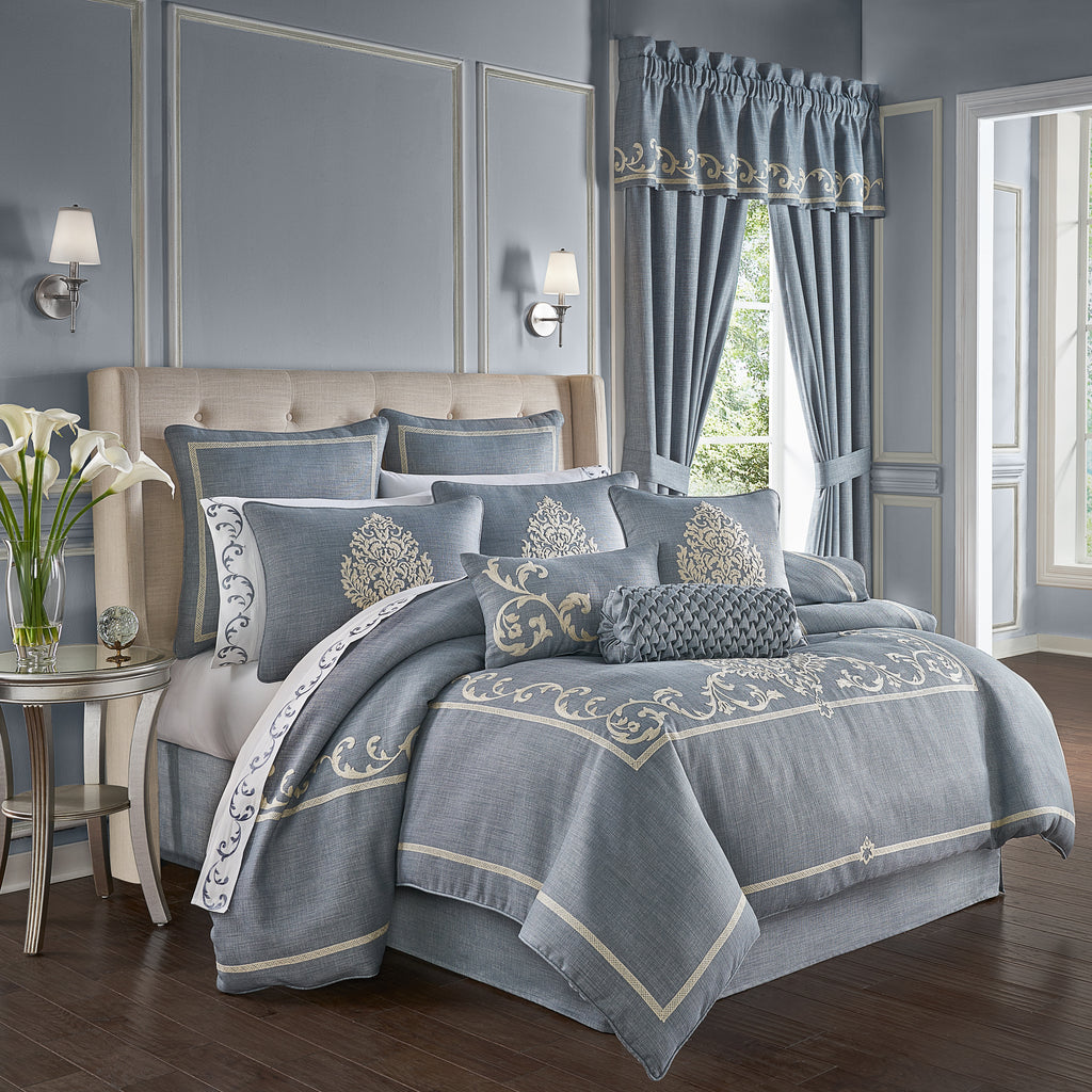 Aurora Blue 4-Piece Comforter Set [Luxury comforter Sets] [by Latest Bedding]