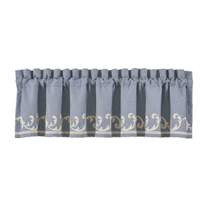 Aurora Blue Window Straight Window Valance [Luxury comforter Sets] [by Latest Bedding]