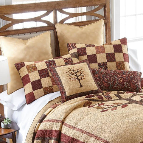 Autumn Tree of Life 3-Piece Cotton Quilt Set [Luxury comforter Sets] [by Latest Bedding]