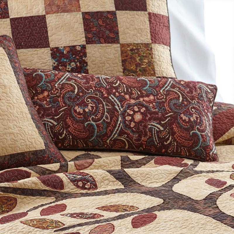 Autumn Tree of Life Rectangle Decorative Pillow [Luxury comforter Sets] [by Latest Bedding]