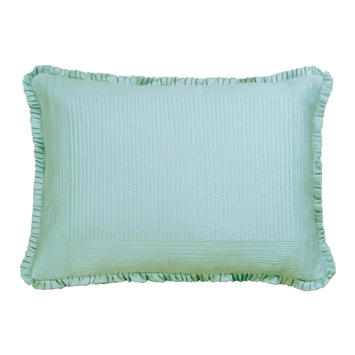 Battersea Sea Foam S&S Quilted Pillow