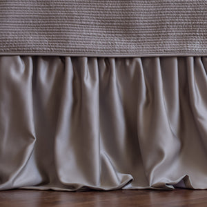 Battersea Taupe S&S 3-Panel Bedskirt Bed Skirt By Lili Alessandra