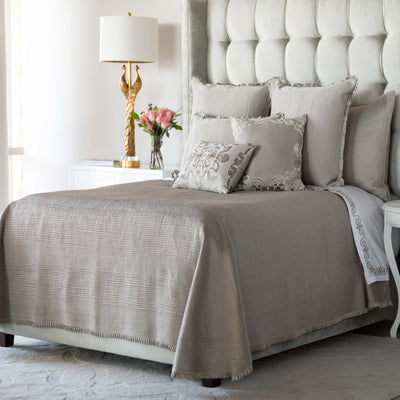 Battersea Taupe S&S Quilted Bedspread [Luxury comforter Sets] [by Latest Bedding]