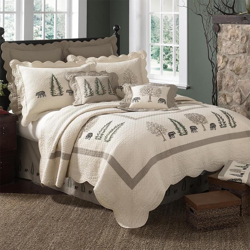 Bear Creek 3-Piece Cotton Quilt Set [Luxury comforter Sets] [by Latest Bedding]