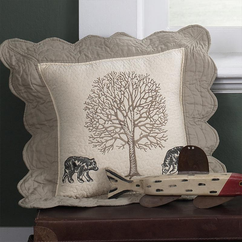 Bear Creek Bears Decorative Pillow [Luxury comforter Sets] [by Latest Bedding]