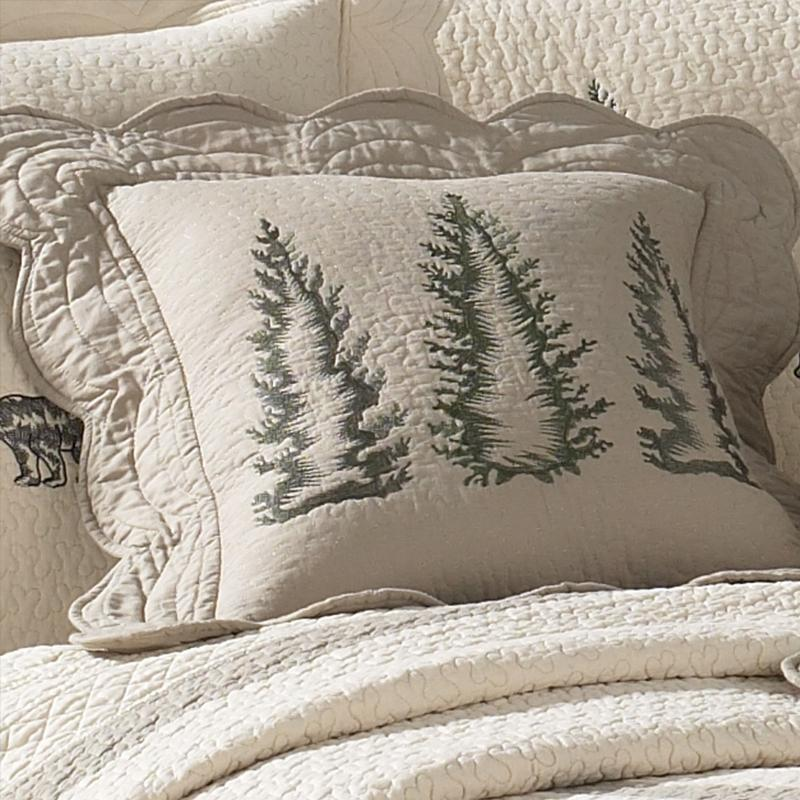 Bear Creek Trees Decorative Pillow [Luxury comforter Sets] [by Latest Bedding]