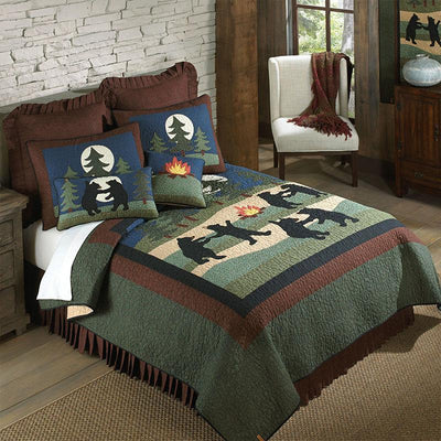Bear Dance 3-Piece Cotton Quilt Set [Luxury comforter Sets] [by Latest Bedding]