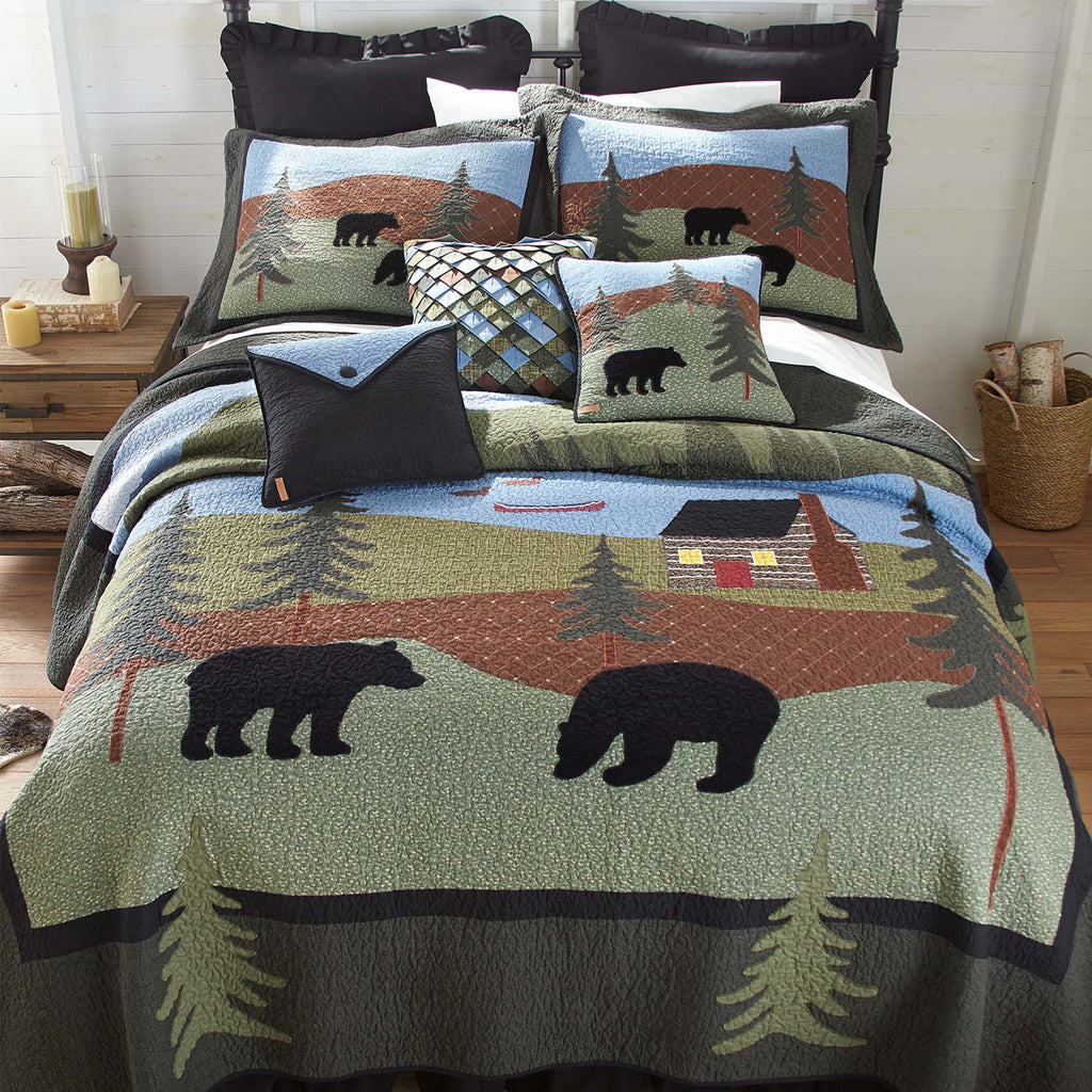 Bear Lake 3-Piece Quilt Set [Luxury comforter Sets] [by Latest Bedding]