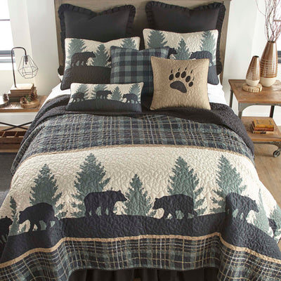 Bear Walk Plaid 3-Piece Quilt Set Quilt Sets By Donna Sharp