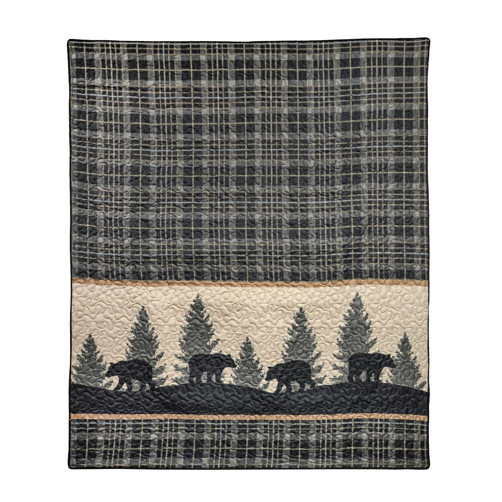 Bear Walk Plaid Throw [Luxury comforter Sets] [by Latest Bedding]