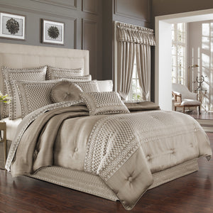 Beaumont Champagne 4-Piece Comforter Set [Luxury comforter Sets] [by Latest Bedding]