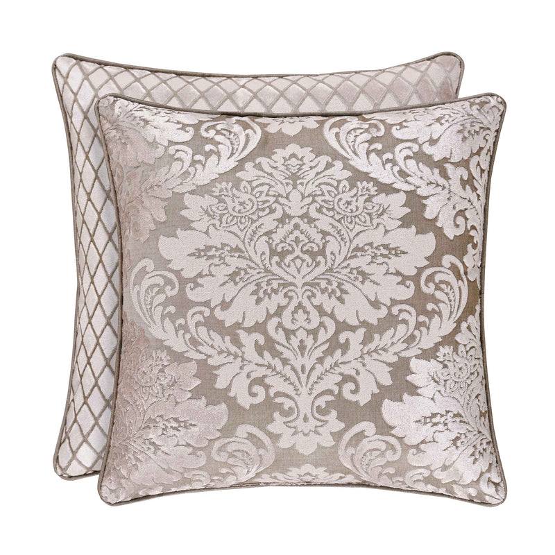 "Bel Air Sand Square Decorative Throw Pillow 18"" x 18"" [Luxury comforter Sets] [by Latest Bedding]"