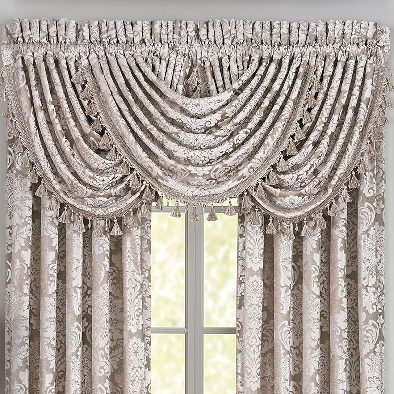 Valance Bel Air Sand Waterfall Window Valance [Luxury comforter Sets) ( by Latest Bedding)]