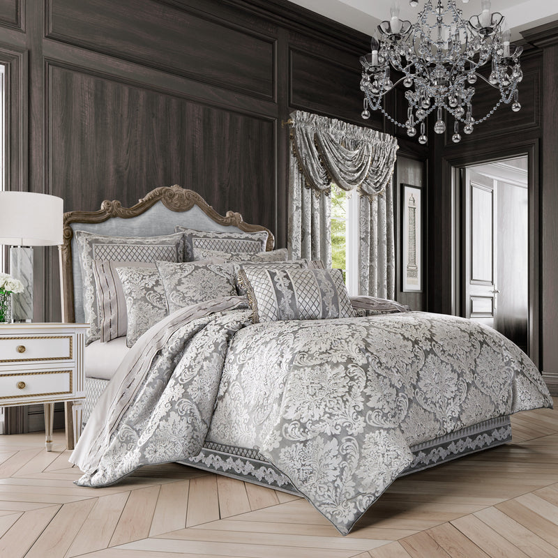 Bel Air Silver 4-Piece Comforter Set [Luxury comforter Sets] [by Latest Bedding]