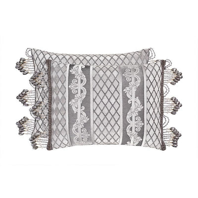 BelAir Silver Boudoir Decorative Throw Pillow [Luxury comforter Sets] [by Latest Bedding]