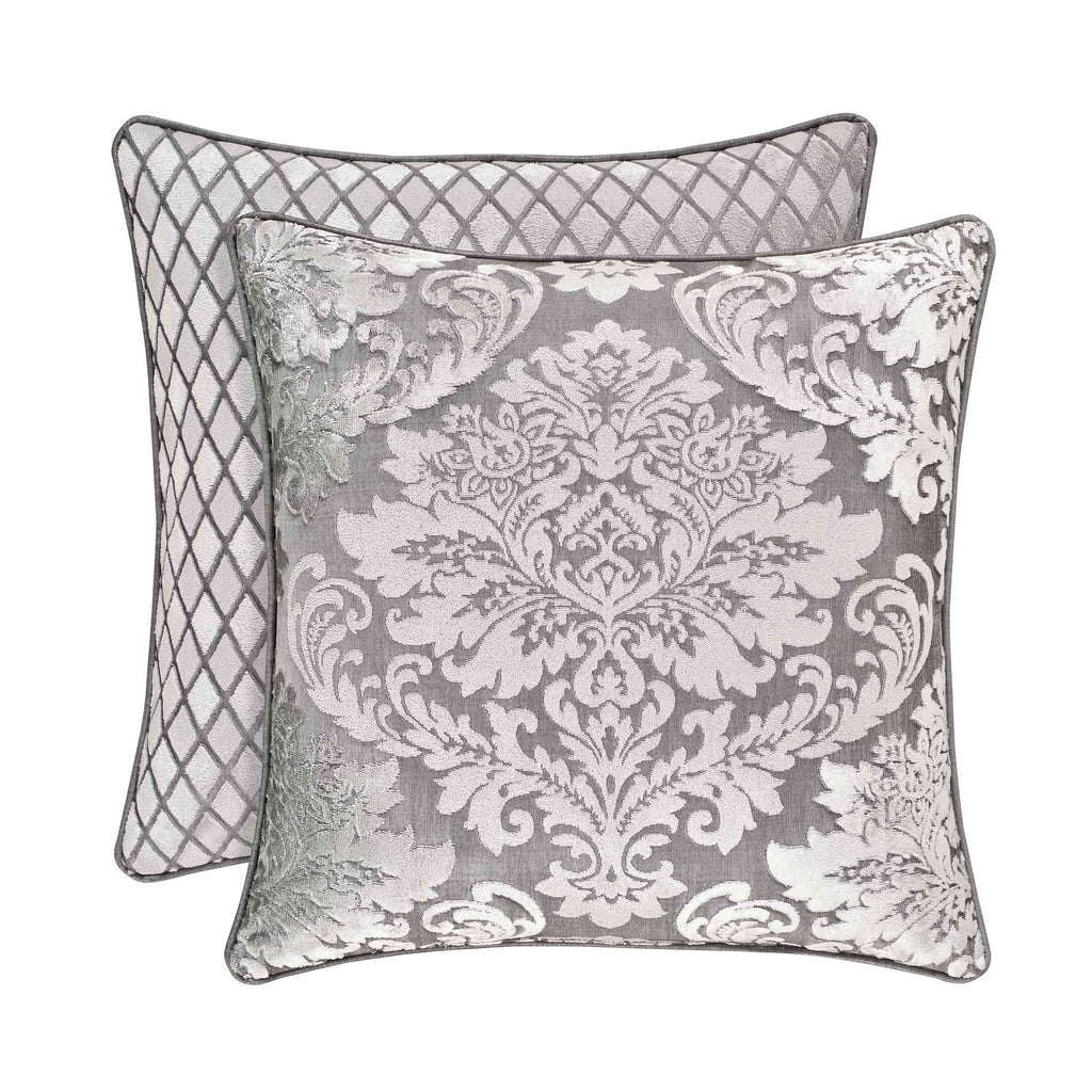 "Bel Air Silver Square Decorative Throw Pillow 18"" x 18"" [Luxury comforter Sets] [by Latest Bedding]"