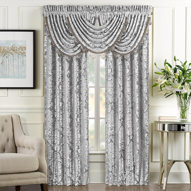 BelAir Silver Window Panel Pair [Luxury comforter Sets] [by Latest Bedding]