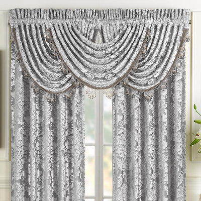 BelAir Silver Waterfall Window Valance [Luxury comforter Sets] [by Latest Bedding]