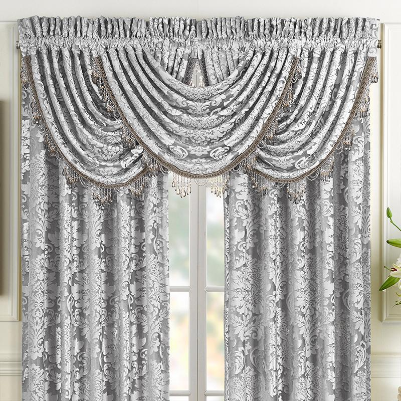 Valance Bel Air Silver Waterfall Window Valance [Luxury comforter Sets) ( by Latest Bedding)]