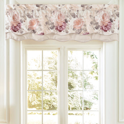 Bela Multi Scalloped Double Layer Window Valance By Croscill Window Valance By Croscill Home LLC