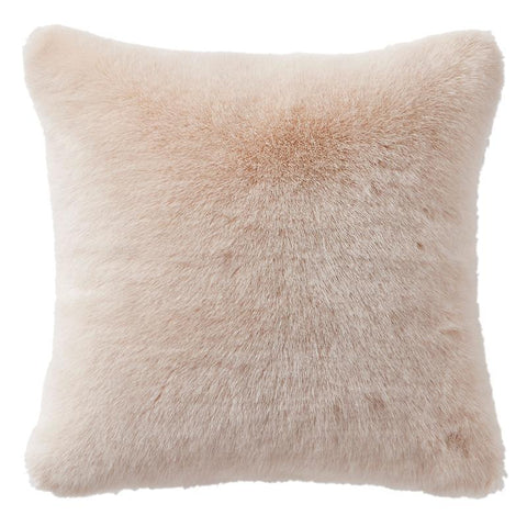 "Belissa Ivory Fur Square Decorative Pillow 16"" x 16"" [Luxury comforter Sets] [by Latest Bedding]"