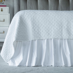Bella White Battersea Bed Skirt - Lili Alessandra [Luxury comforter Sets] [by Latest Bedding]