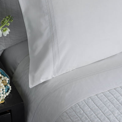 Bella White Double Hem Stitch Pillowcase Set Pillowcases By Lili Alessandra
